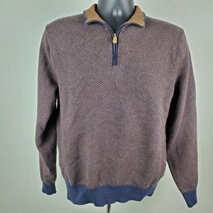 Brooks Brothers Half Zip Polo Sweater Top MD